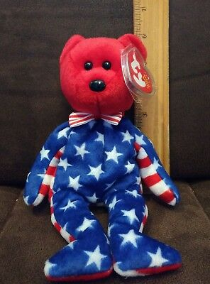 Bear Blue Head 2001 MWMT Ty Beanie Baby Liberty blue Patriotic