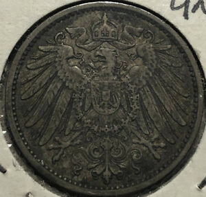 1896-A-Germany-1-Mark-Silver-Coin-XF-Condition