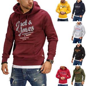 Jack-amp-Jones-senores-Hoodie-sudaderas-con-Print-Sweater-sueter-Streetwear