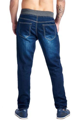 MEN/'S DENIM PANT JOGGER SLIM FIT Elastic Waistband+Drawstring E-DH1507C EVIDENCE