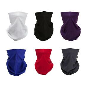 Full-Function-Face-Warmer-Tube-Neck-Tube-Scarf-Biker-Bandana-Plain-Solid-Colour