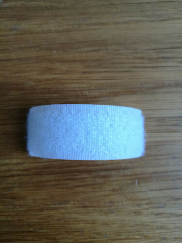 Velcro Hook and Loop brand sew on fastening tape for fabric in White 16mm wide