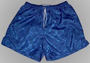 Don-Alleson-Blue-Checker-Nylon-Soccer-Shorts-Men-039-s-XL