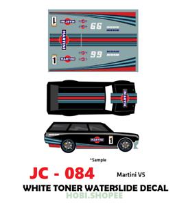 Jc 9084 White Toner Waterslide Decals Martini V5 For Custom 1 64 Hot Wheels Ebay