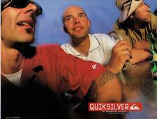 Publicité 1999  QUIKSILVER collection sport pret à porter vetement chaussure
