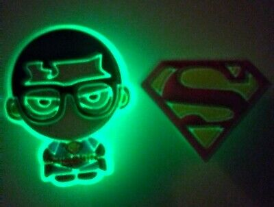 For Crocs NEW 2PC Set Superman Clark Kent Glow in The Dark Shoe Charms