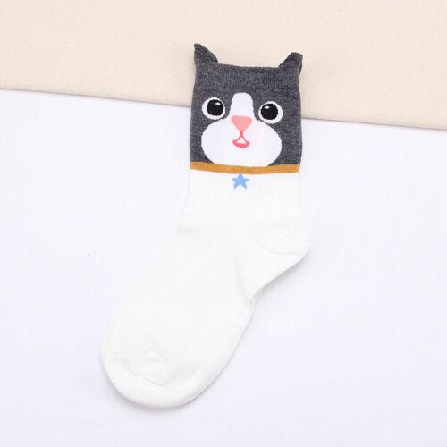 Cute Cotton Animal Cartoon Cat 3D Women Dog Casual Socks Ankle-high Sock Printed