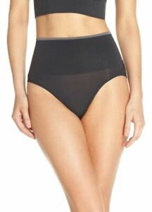 Yummie-BLACK-Ultralight-Seamless-Lace-Inset-Shaping-Briefs-US-Large-XLarge