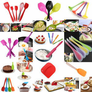 Details about Kitchen Silicone Cake Cream Spoon Spatula Brush Baking  Cooking Utensils Tools