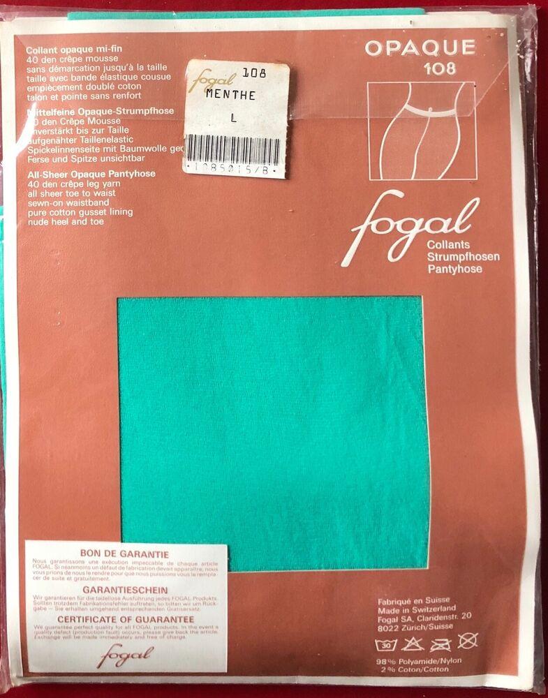 Fogal Opaque 108 Collants Collants Menthe Large