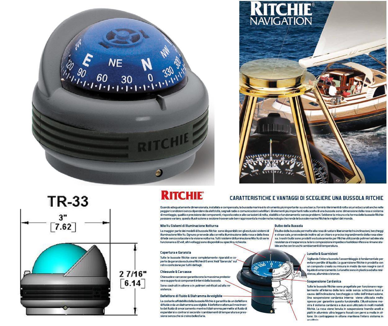 RITCHIE Kompass Stiefel Navigation Profi an die Oberfläche Rosa 2  Licht TR-33G