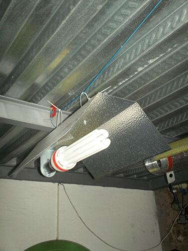 Kit CFL illuminazione indoor 125W crescita vegetativa 6400°K grow blue white