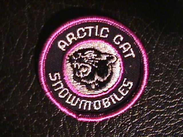 ARCTIC CAT Vintage Patch Original  Snowmobile Sled Badge! 1970's! Skidoo
