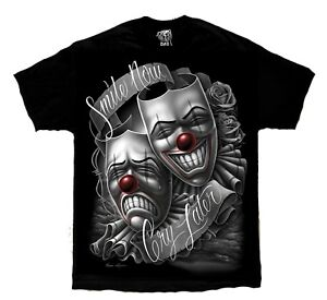 Smile-Now-Cry-Later-Drama-Mask-Lowrider-Chicano-Art-David-Gonzales-DGA-T-Shirt