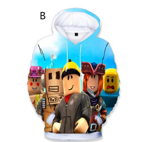 Boys Girl Kids ROBLOX Cartoon 3D Printing Hoodie Spring Fall Sweatshirt Pullover