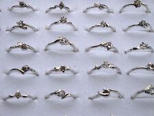 50X Wholesale Lots Fashion Women Jewelry Crystal Rhinestone Silver Plated Rings