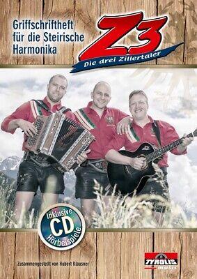 Aufstrebend Z3 Die Drei Zillertaler Incl. Cd, Noten Steirische Harmonika, Klausner