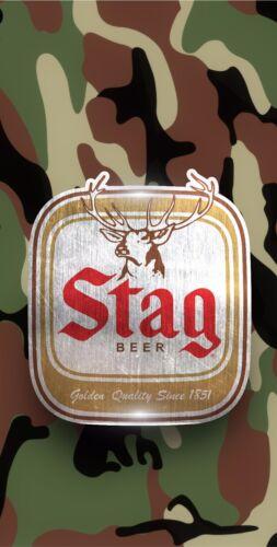 Wraps Only Stag Beer Camo Cornhole Wrap Printed 3M Vinyl Wrap Set