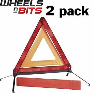 Large Reflective Warning Triangle Sign Foldable Road Emergency Car Breakdown