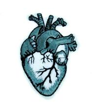 Anatomical Human Heart Patch Iron on Applique Occult Gothic Punk Grunge Oddities