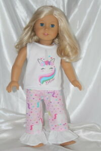 Dress-Outfit-fits-18-inch-American-Girl-Doll-Clothes-Unicorn-Hearts-Lot-B