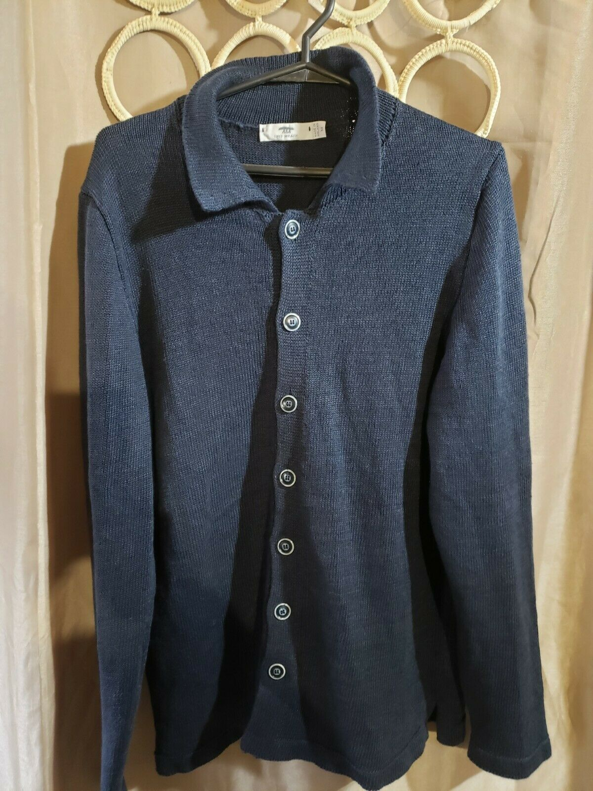 $575 INIS MEAIN LINEN  CARDIGAN SWEATER HAND MADE… - image 1