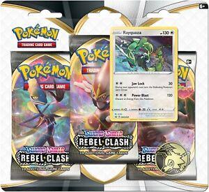 Rebel-Clash-Pokemon-Sword-amp-Shield-3-Pack-Blister-Rayquaza-Promo