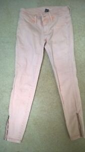 Details about NWOT VICTORIA'S SECRET SIREN PINK SKINNY JEANS WITH ZIPPERS SIZE 0