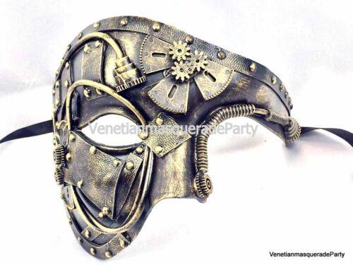 Steam-punk Warrior Soldier Men boy Masquerade Phantom Mask Prom Military Party