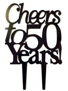 Image Is Loading Cheers To 50 Years Birthday 50th Anniversary Cake