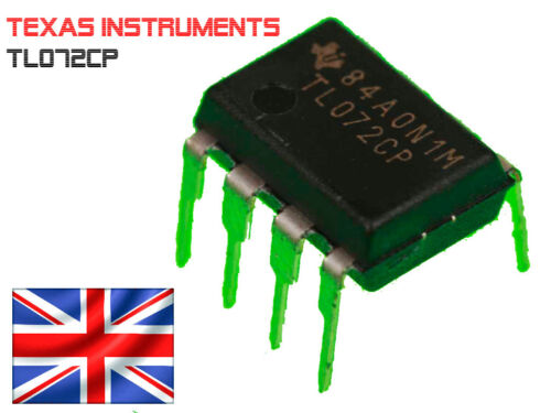 Dip-8 Regno Unito Post veloce JFET 5x TL072CP Texas DUAL OP AMP Instruments