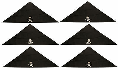 6 Pirate Bandanas - Childrens Costume Loot/Party Bag Fillers Pinata