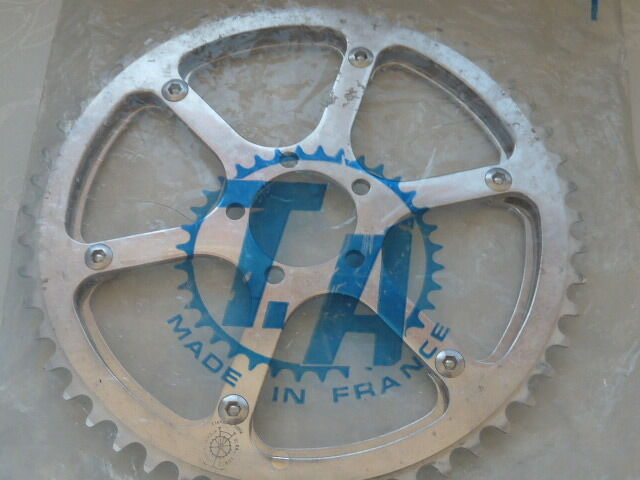 T.A. CRITERIUM Chainring Set double with 47 51T  TA  47  51 3 32  VINTAGE NOS