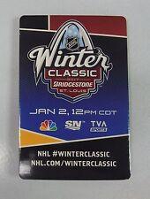 "2017 NHL WINTER CLASSIC FAN GUIDE POCKET SOUVENIR BLACKHAWKS BLUES 2""x3"" 5009073"