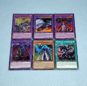 Yugioh-Legendary-Knight-Fang-of-Critias-Mirror-Force-Tyrant-Dragon-6-Card-Set