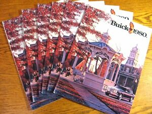 1980-Buick-Brochure-LOT-6-pcs-24-pgs-Riviera-Electra-LeSabre-Wagons-Regal
