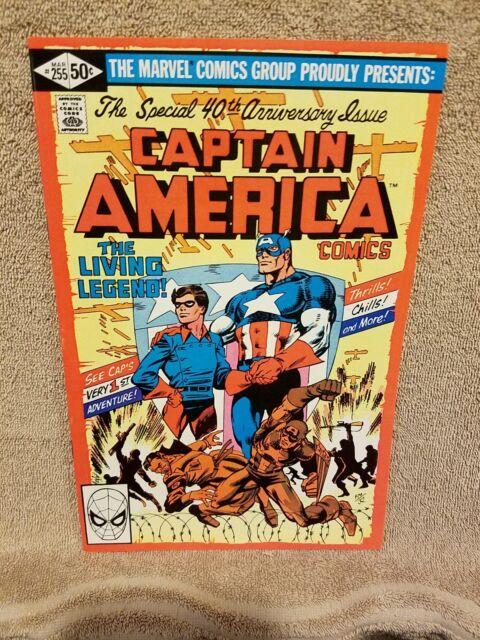 Captain America #255   9.6 1981 Marvel Comic: Frank Miller Nostalgic Cover