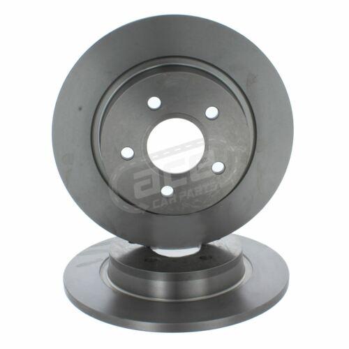 Ford C-Max MPV 4//2007-5//2011 1.8 2.0 Rear Solid Brake Discs Set 280mm 5 Stud