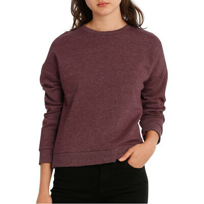 NEW Miss Shop Essentials Long Sleeve Basic Crew Neck Sweat Rose Red
