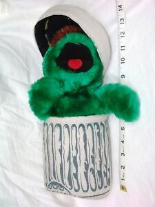 Details About Sesame Street Oscar The Grouch W Trash Can Lid 12 Plush Applause Henson Muppet