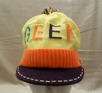 Geek Knit Stretch Hat One Size Fits Most Cap Claire's With Tags