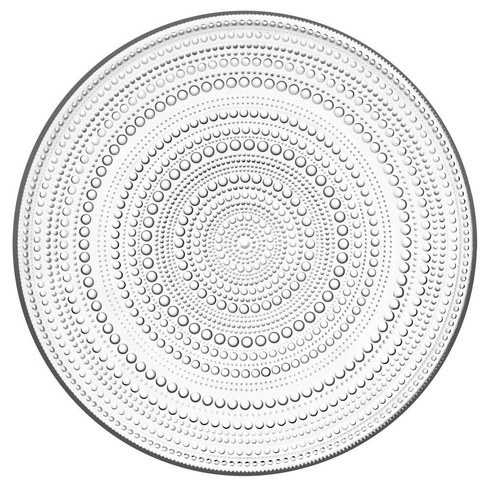 Iittala Kastehelmi Teller - klar - Ø 31.5 cm - Tortenplatte - NEU