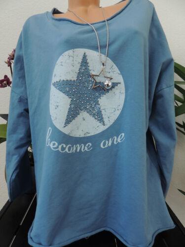 Femmes Sweat-shirt taille 44 46 48 50 grande taille Pull manches longues étoile étoiles 1