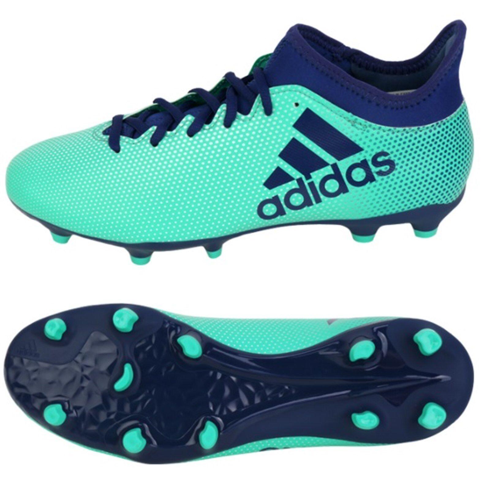 Adidas Hombres X 17.3 FG Botines de Menta Azul Zapatos De Fútbol botas Spike CP9194