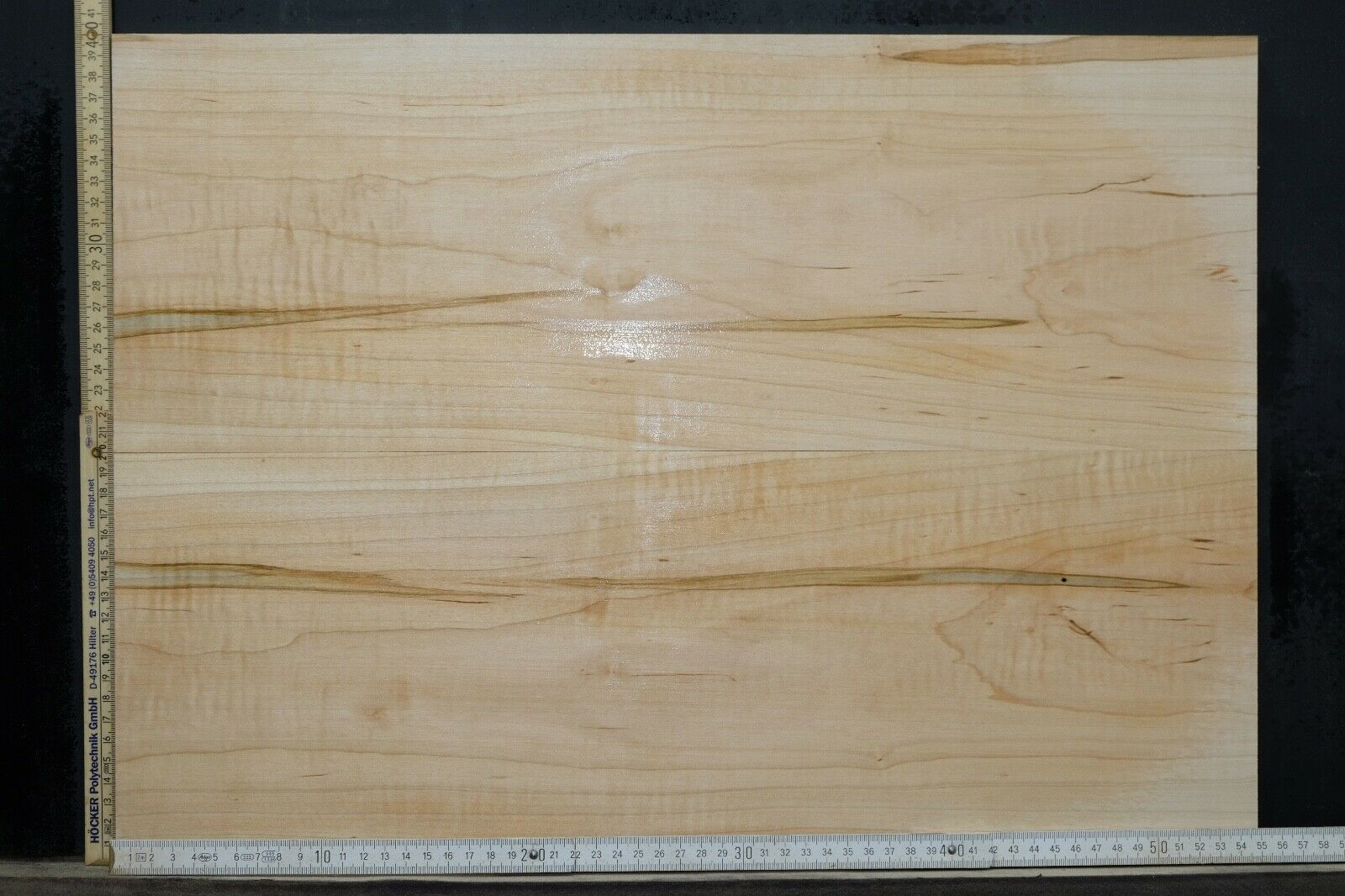 Tonewood Ambrosia Maple Bookmatched 15mm Tonholz Topset Guitar Ahorn Droptop 069