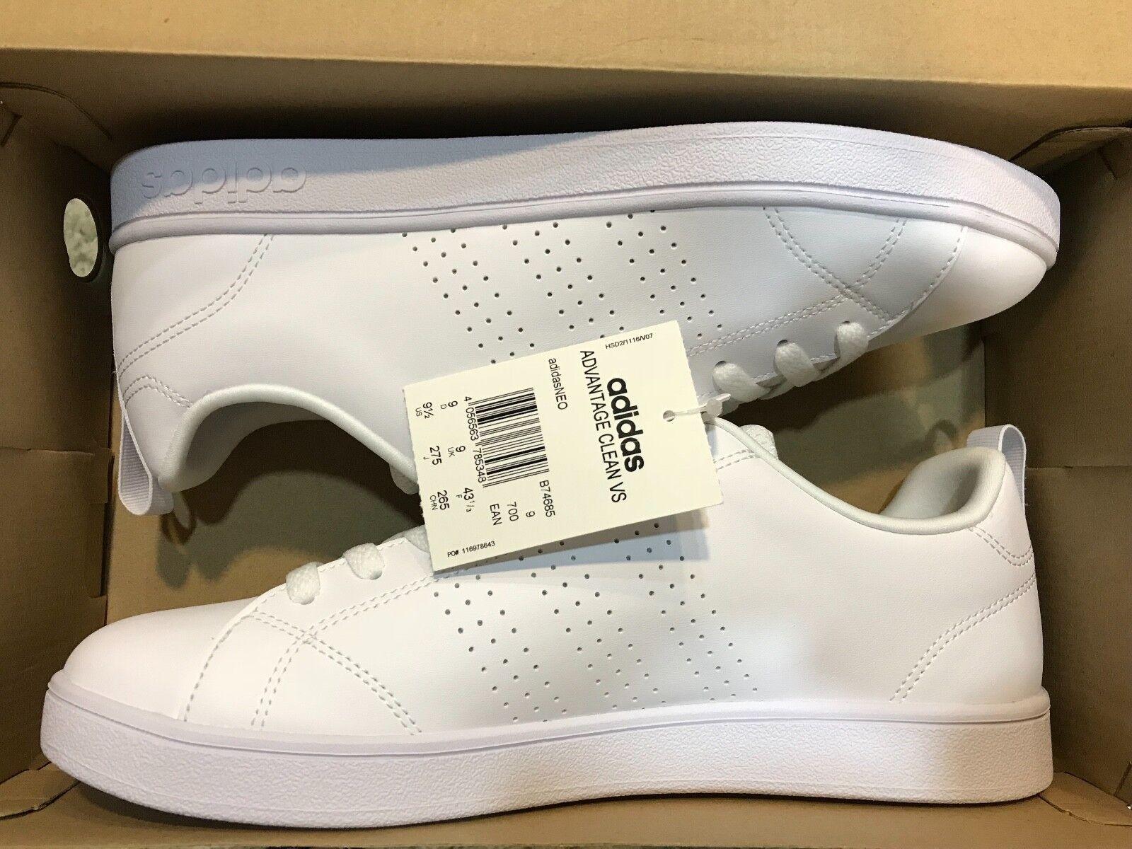 Adidas Advantage Clean VS Weiß, 1/3 Größe 43 1/3 Weiß, 03961d
