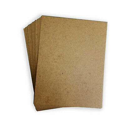 50pt Heavy Weight Brown Kraft Cardboard 50 Sheets Chipboard 11 x 17 inch