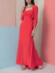 new style 2cdcc 92cdd Dettagli su EDAS Bolero coprispalle donna elegante cerimonia Goreto NERO  ROSSO stola forti