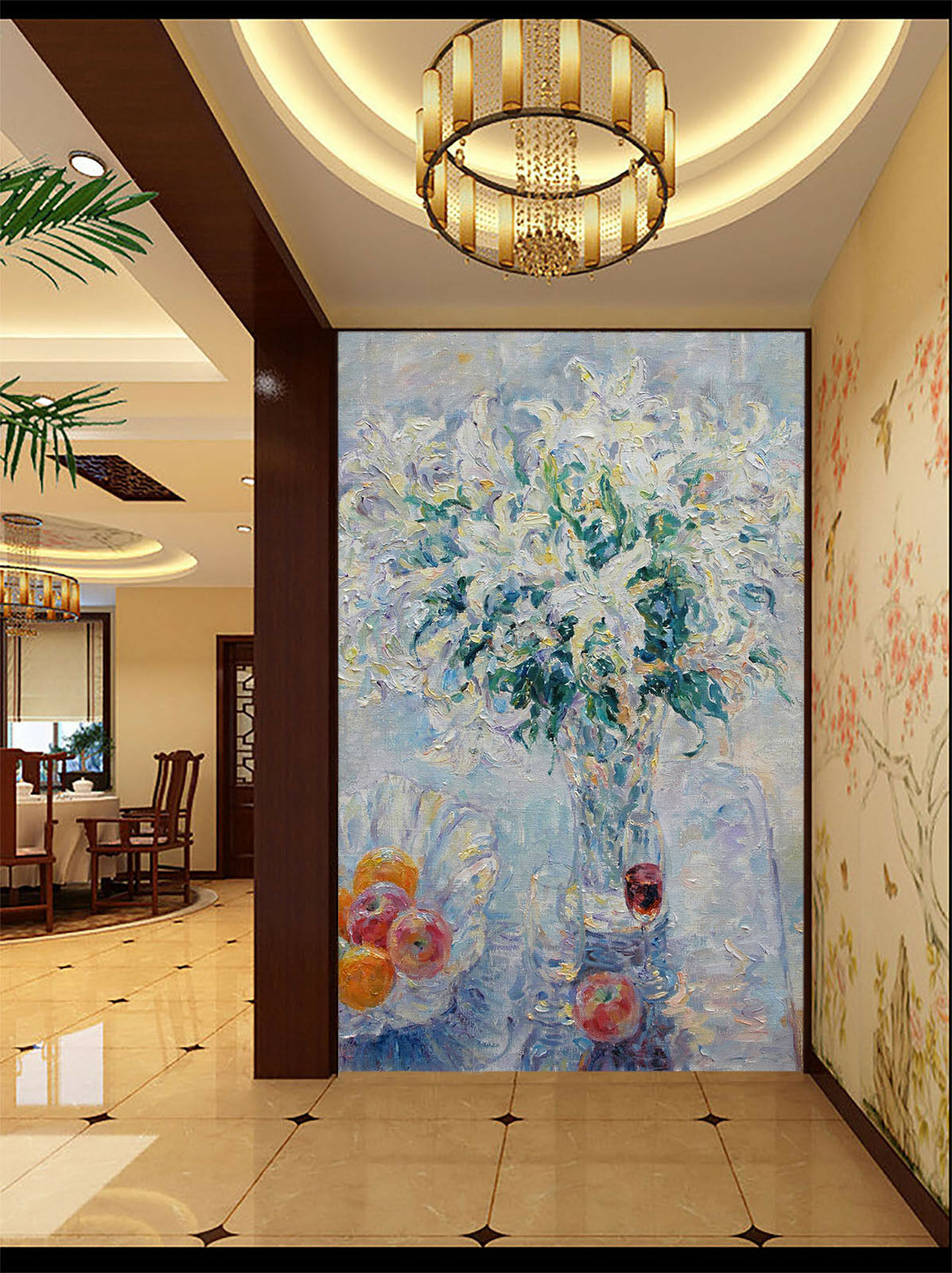 3D Maler bluemen Malerei 73 Tapete Wandgemälde Tapete Tapeten Bild Familie DE