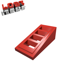 neu 61409 10 x LEGO Dachstein 18° 2 x 1 x 2//3 mit 4 Schlitzen rot